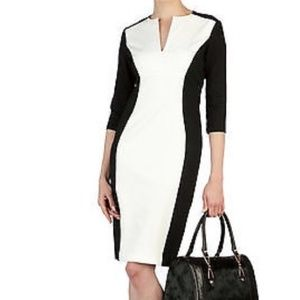 """Ted Baker """"Ristle"""" Black and White Dress"""